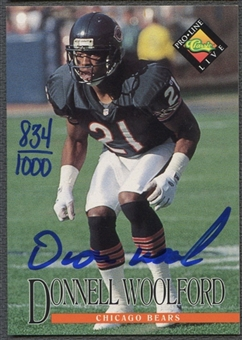 1994 Pro Line Live #130 Donnell Woolford Auto #0834/1000