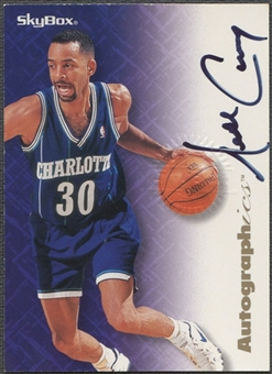 1996/97 SkyBox Premium #14 Dell Curry Autographics Auto