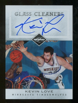 2011/12 Panini Limited Glass Cleaners Signatures #5 Kevin Love Autograph 13/25