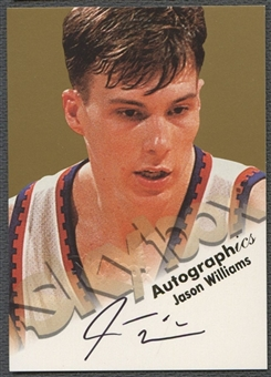 1998/99 SkyBox Premium #135 Jason Williams Autographics Auto