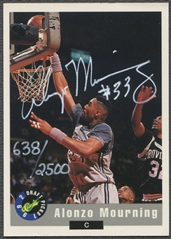 1992 Classic Alonzo Mourning Auto #0638/2500