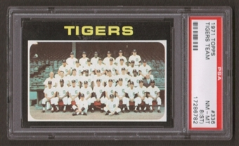 1971 Topps Baseball #336 Tigers Team PSA 8 (NM-MT) (ST) *6782
