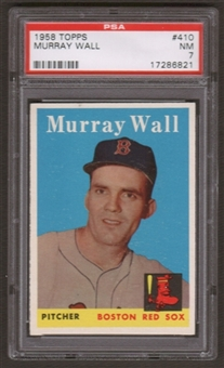 1958 Topps Baseball #410 Murray Wall PSA 7 (NM) *6821