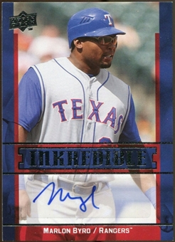 2009 Upper Deck Inkredible #MB Marlon Byrd Autograph