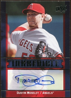 2009 Upper Deck Inkredible #MO Dustin Moseley Autograph