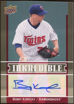2009 Upper Deck Inkredible #BK Bobby Korecky S2 Autograph