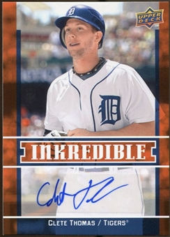 2009 Upper Deck Inkredible #CT Clete Thomas S2 Autograph