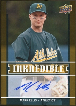 2009 Upper Deck Inkredible #ME Mark Ellis S2 Autograph