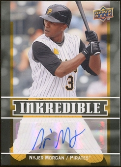 2009 Upper Deck Inkredible #NM Nyjer Morgan S2 Autograph