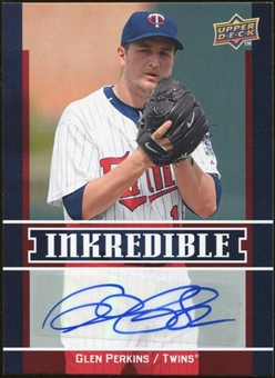 2009 Upper Deck Inkredible #PE Glen Perkins S2 Autograph