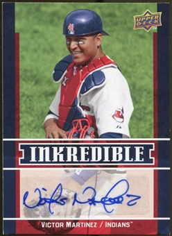 2009 Upper Deck Inkredible #VM Victor Martinez S2 Autograph