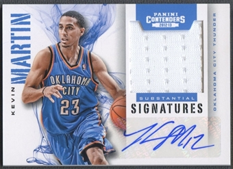 2012/13 Panini Contenders #20 Kevin Martin Substantial Signatures Materials Jersey Auto #84/99