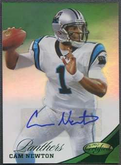 2012 Certified #121 Cam Newton Mirror Emerald Signatures Auto #5/5