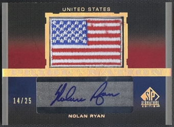 2012 SP Signature #NR Nolan Ryan Pride of a Nation Signatures Patch Auto #14/25