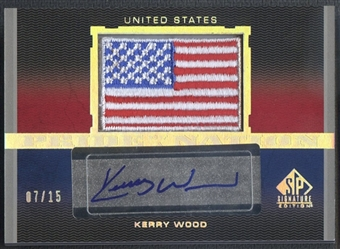 2012 SP Signature #KW Kerry Wood Pride of a Nation Signatures Patch Auto #07/15