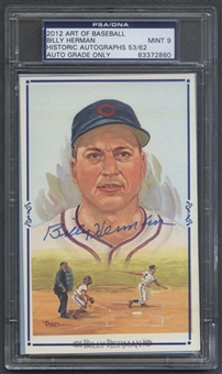 2012 Historic Autograph Art of Baseball Billy Herman Auto PSA DNA