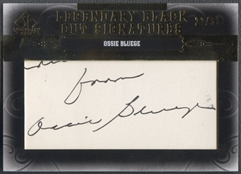 2011 SP Legendary Cuts #WASOB Ossie Bluege Legendary Black Signatures Auto #22/35