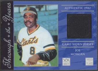 2002 Topps American Pie #JM Joe Morgan Through the Year Relics Jersey