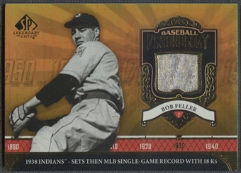 2006 SP Legendary Cuts #BF Bob Feller Baseball Chronology Materials Pants