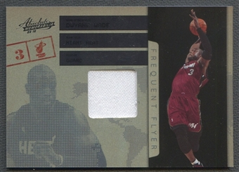 2009/10 Absolute Memorabilia #11 Dwyane Wade Frequent Flyer Materials Jersey #03/50