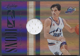2009/10 Absolute Memorabilia #12 John Stockton NBA Icons Materials Jersey #061/100