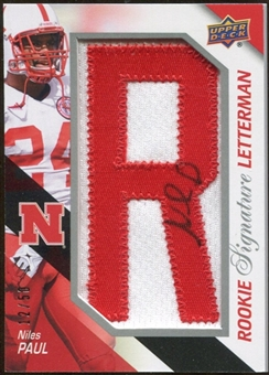 2011 Upper Deck Rookie Letterman Autographs #RSLNP Niles Paul 12/50