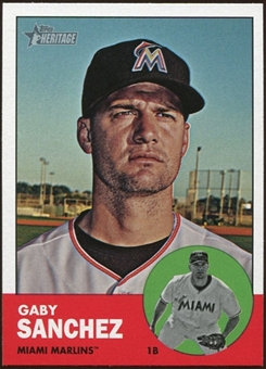 2012 Topps Heritage #445A Gaby Sanchez SP