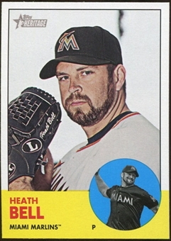 2012 Topps Heritage #448 Heath Bell SP