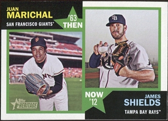 2012 Topps Heritage Then and Now #MS Juan Marichal/James Shields