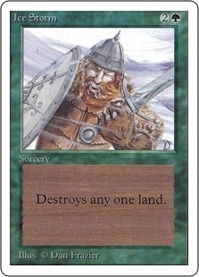 Magic the Gathering Unlimited Single Ice Storm - SLIGHT PLAY (SP)