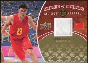 2010 Upper Deck World of Sports All-Sport Apparel Memorabilia #ASA3 Yao Ming