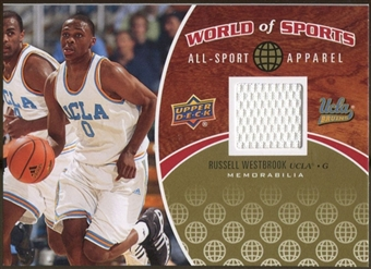 2010 Upper Deck World of Sports All-Sport Apparel Memorabilia #ASA5 Russell Westbrook