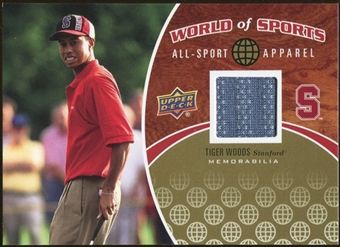 2010 Upper Deck World of Sports All-Sport Apparel Memorabilia #ASA17 Tiger Woods