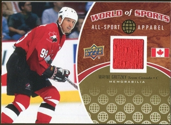 2010 Upper Deck World of Sports All-Sport Apparel Memorabilia #ASA35 Wayne Gretzky