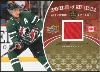 2010 Upper Deck World of Sports All-Sport Apparel Memorabilia #ASA40 Colten Teubert