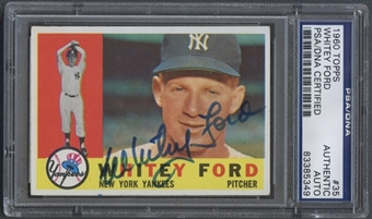 1960 Topps #35 Whitey Ford Auto PSA DNA