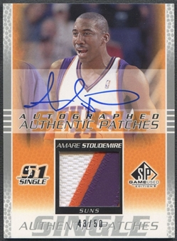 2003/04 SP Game Used #ASAP Amare Stoudemire Authentic Patch Auto #43/50