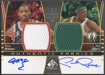 2004/05 SP Game Used #MP Tracy McGrady & Paul Pierce Authentic Fabrics Dual Jersey Auto #26/50