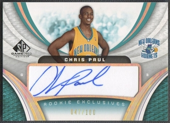 2005/06 SP Game Used #CP Chris Paul Rookie Exclusive Auto #047/100