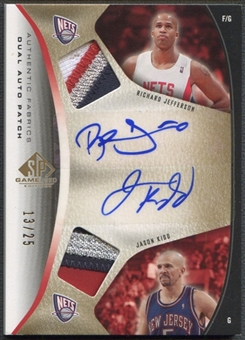 2006/07 SP Game Used #KJ Jason Kidd & Richard Jefferson Authentic Fabrics Dual Patch Auto #13/25