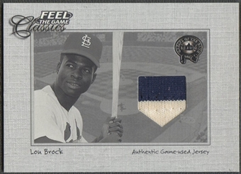 2001 Greats of the Game #3 Lou Brock Feel the Game Classics Jersey
