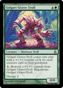 Magic the Gathering Ravnica Single Golgari Grave-Troll Foil