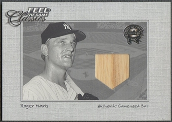 2001 Greats of the Game #10 Roger Maris Feel the Game Classics Bat