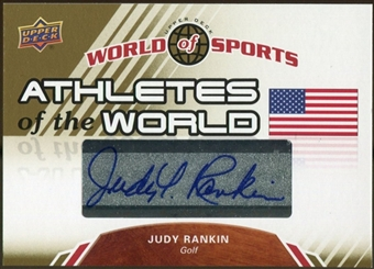 2010 Upper Deck World of Sports Athletes of the World Autographs #AW38 Judy Rankin
