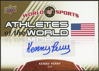 2010 Upper Deck World of Sports Athletes of the World Autographs #AW44 Kenny Perry