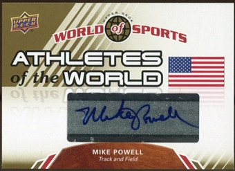 2010 Upper Deck World of Sports Athletes of the World Autographs #AW47 Mike Powell