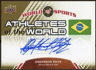 2010 Upper Deck World of Sports Athletes of the World Autographs #AW50 Anderson Silva