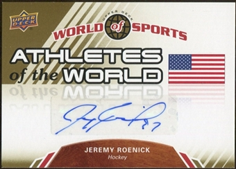 2010 Upper Deck World of Sports Athletes of the World Autographs #AW97 Jeremy Roenick