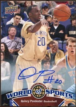 2010 Upper Deck World of Sports Autographs #49 Quincy Pondexter