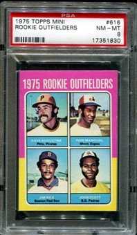 1975 Topps Mini Baseball #616 Jim Rice Rookie PSA 8 (NM-MT) *1830